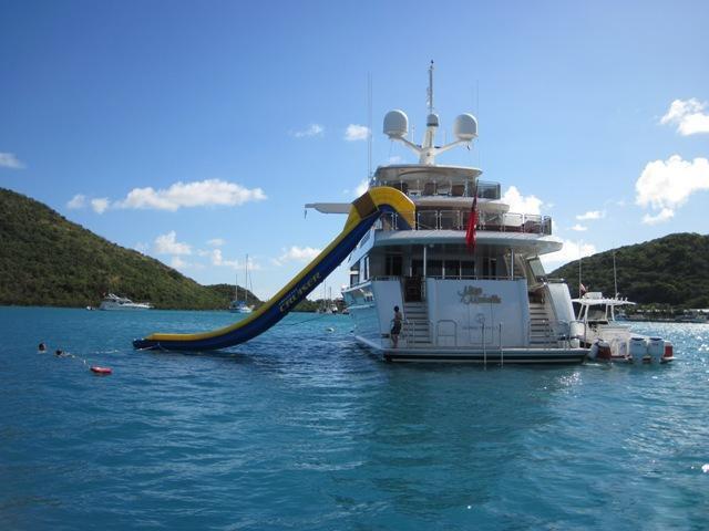 Water Slide On Yacht MILK MONEY