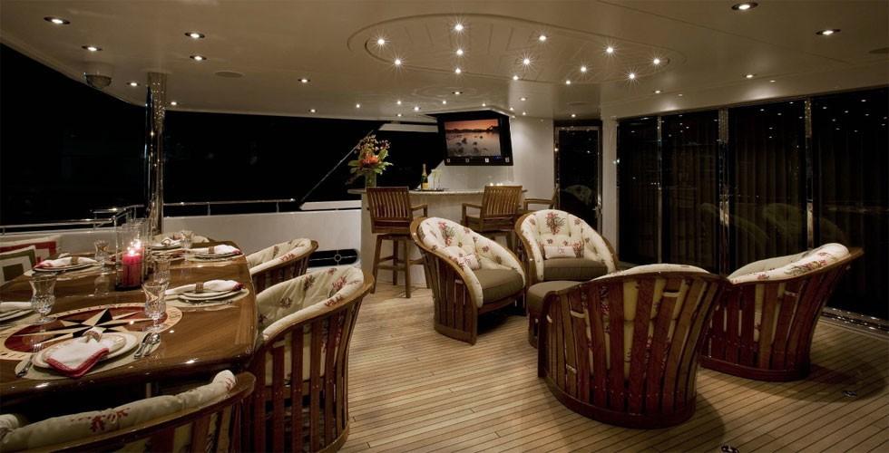 Premier Aft Deck Sitting On Yacht MILK MONEY