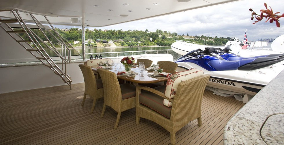 Sky-lounge Deck On Board Yacht MILK MONEY