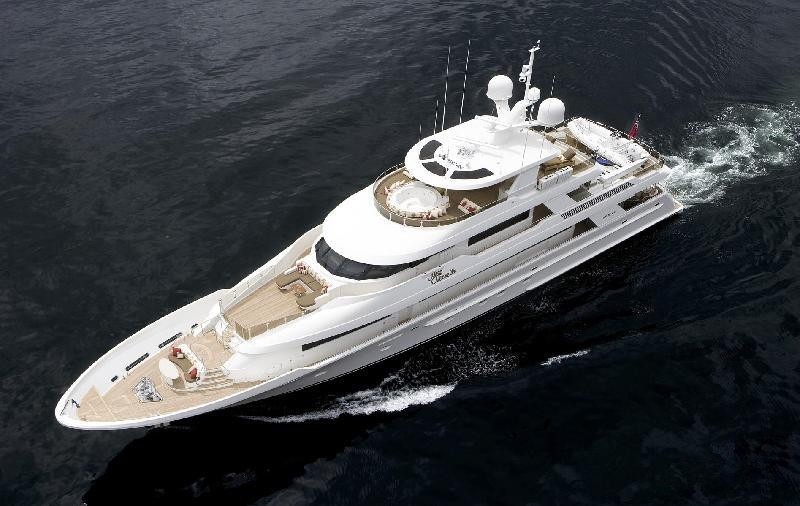 From Above: Yacht MILK MONEY's Cruising Pictured