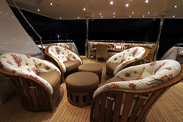 Premier Deck Aft Drinks Bar On Board Yacht MILK MONEY