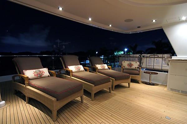 Evening: Yacht MILK MONEY's Sunshine Lounging Image