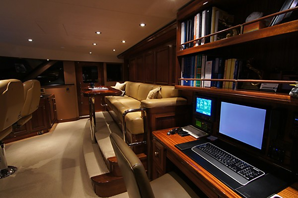 Bridgedeck Sitting On Board Yacht MILK MONEY