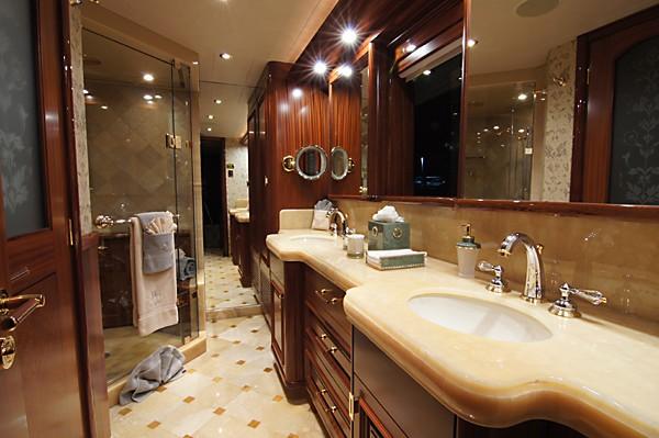 Main Master Bath On Yacht MILK MONEY