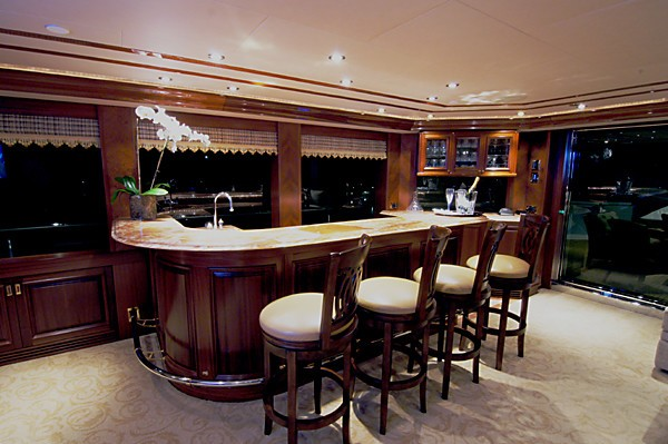 Sky-lounge Drinks Bar Aboard Yacht MILK MONEY
