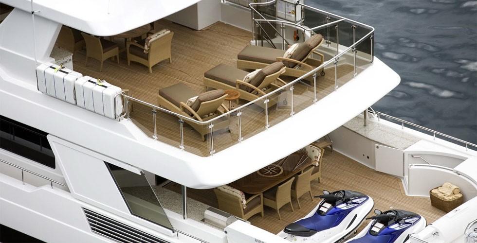 Aft Decks On Board Yacht MILK MONEY