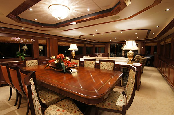 Eating/dining Zone Aboard Yacht MILK MONEY