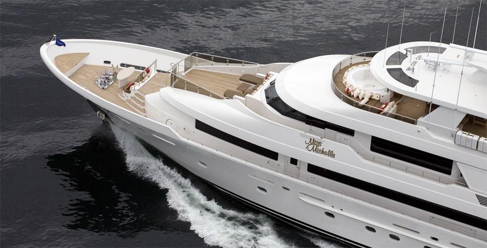 Ship's Bow: Yacht MILK MONEY's Cruising Pictured