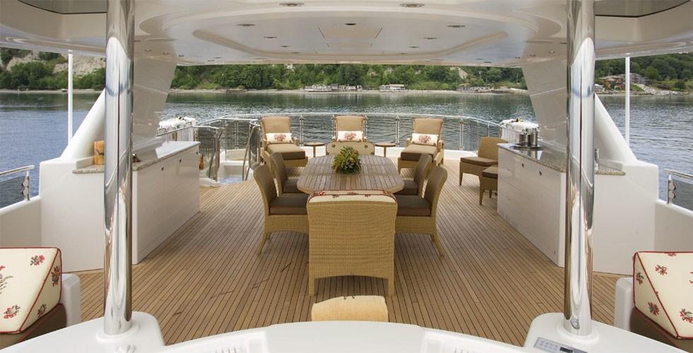 Sun Deck Taken From Jacuzzi Pool Aboard Yacht MILK MONEY