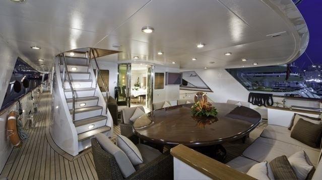 Aft Deck On Yacht SUPERFUN