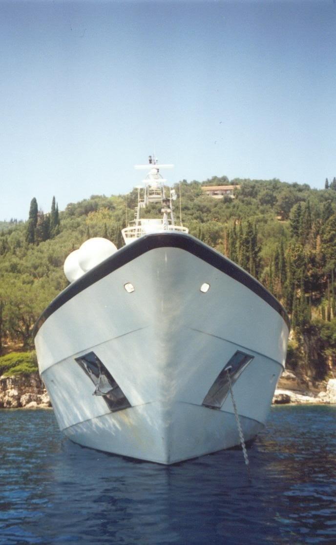 Ship's Bow On Board Yacht CARMEN FONTANA