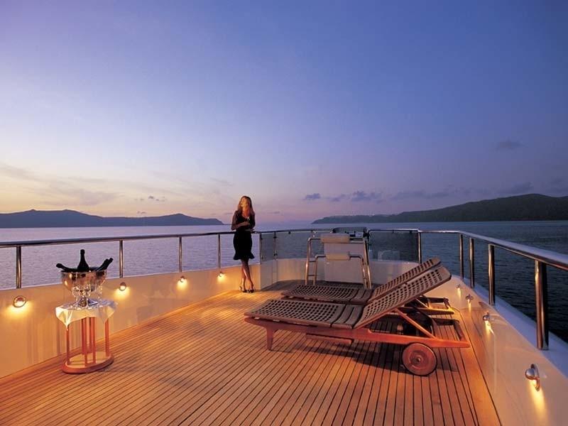 Evening: Yacht CARMEN FONTANA's Deck Image