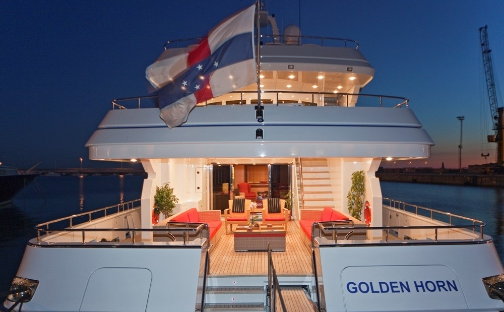 Aspect Of Aft Deck On Board Yacht GOLDEN HORN