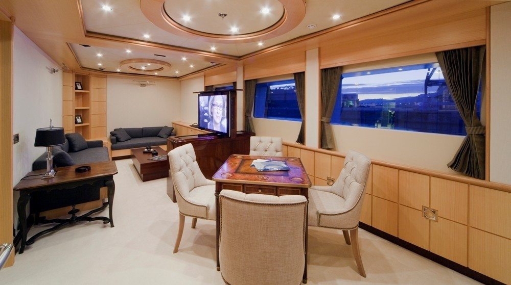 Entertainment Area On Yacht GOLDEN HORN