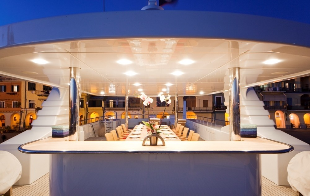 Outdoor Eating/dining On Yacht GOLDEN HORN