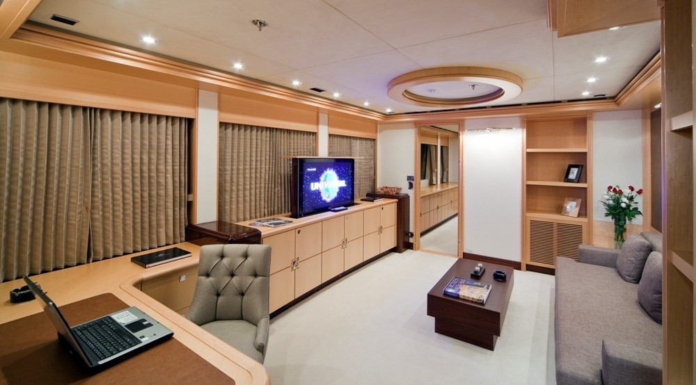 Main Master Office Aboard Yacht GOLDEN HORN