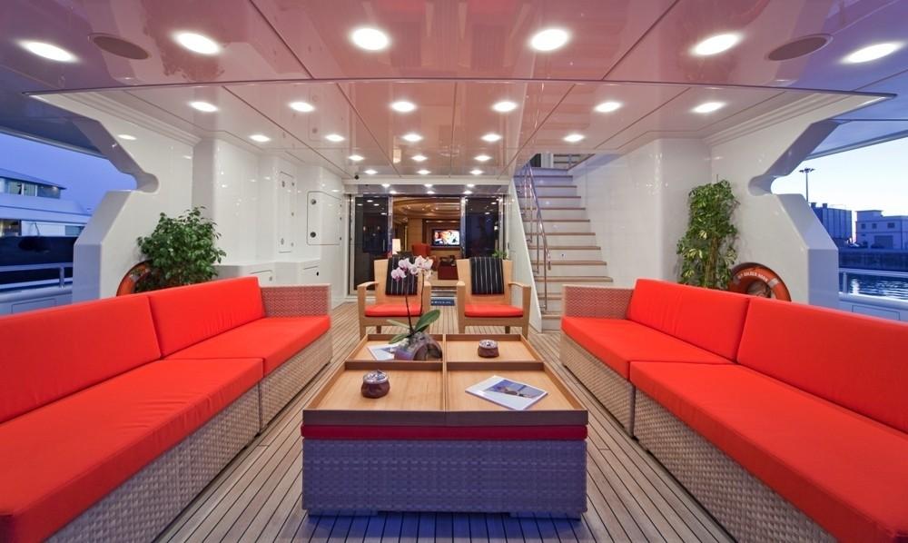 Aft Deck Aboard Yacht GOLDEN HORN