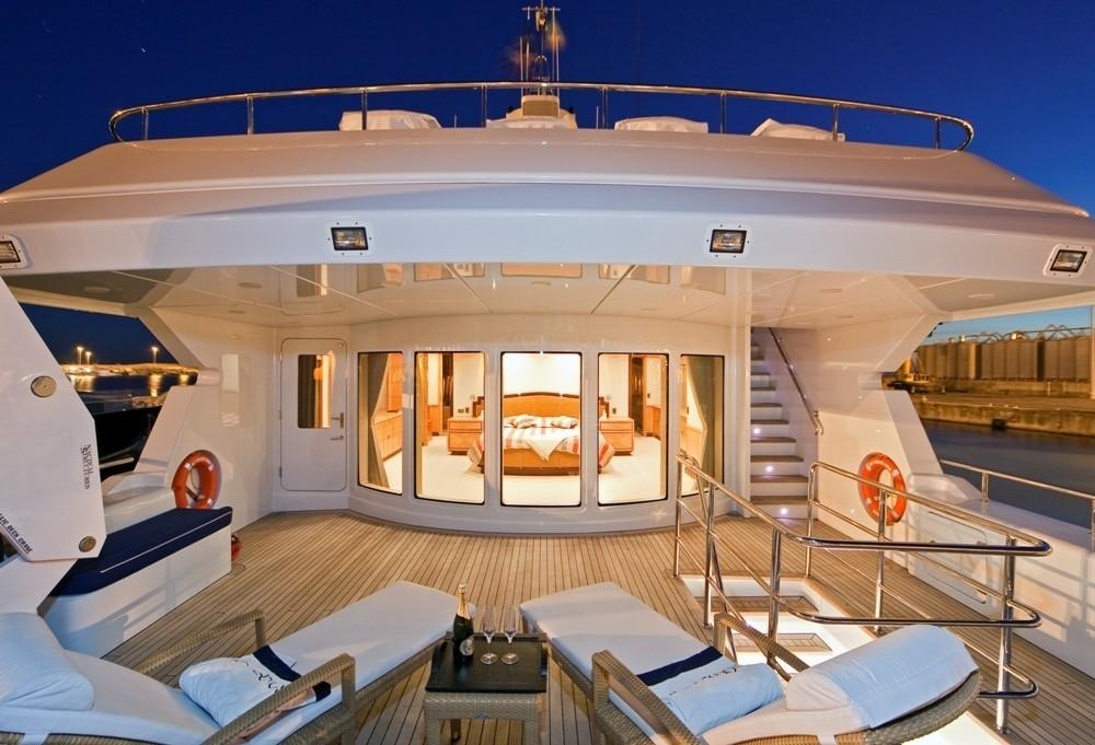 Personal Deck On Yacht GOLDEN HORN