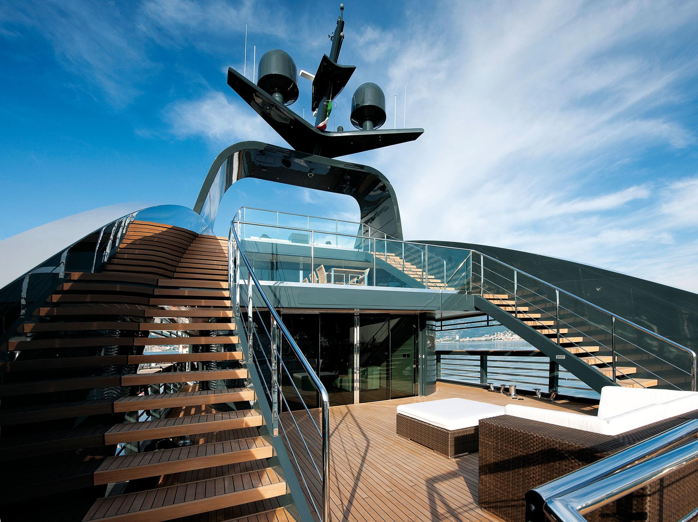 Top Deck Aboard Yacht OCEAN SAPPHIRE