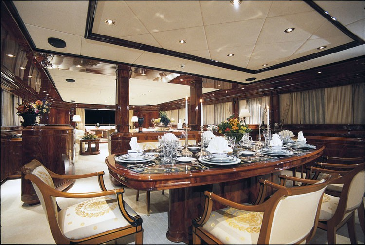 Eating/dining Zone On Board Yacht JAAN