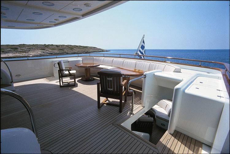Sitting Zone Aboard Yacht JAAN