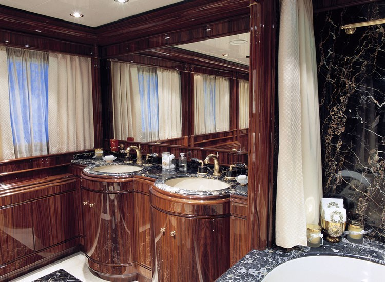 Close Up: Yacht JAAN's En Suite Pictured