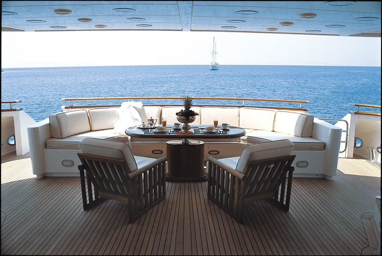 External Eating/dining On Board Yacht JAAN