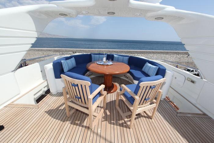 Sun Deck Sitting On Yacht JAAN