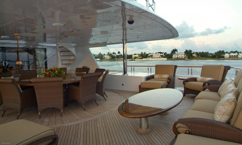 Sky-lounge Aft Deck Aboard Yacht BIG ZIP