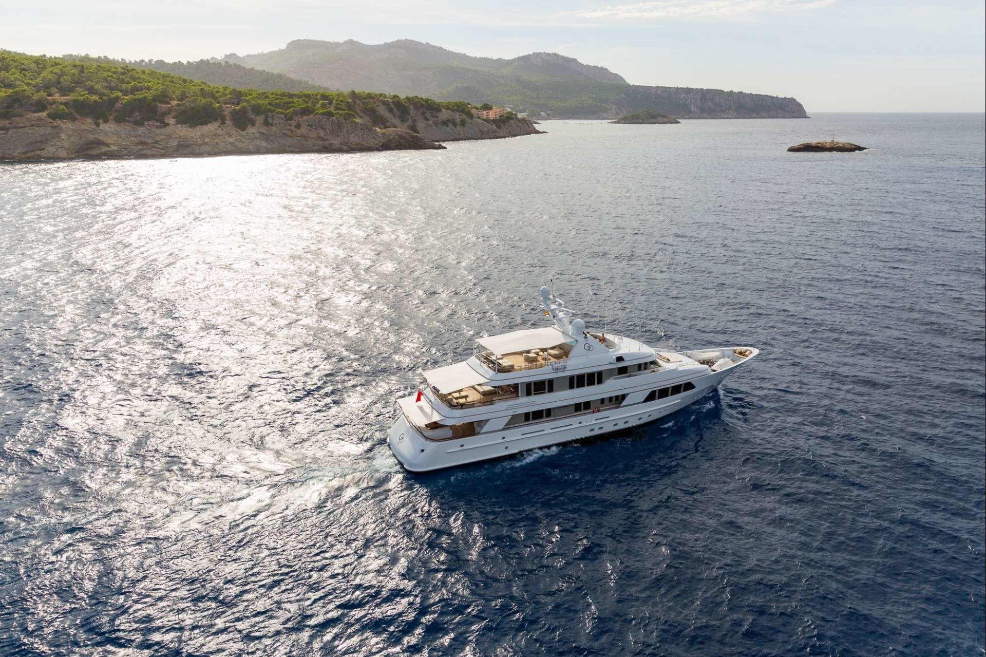 The 43m Yacht GO - Aerial view