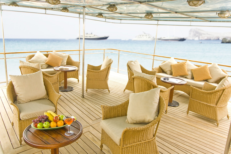 Aft Deck On Yacht GRACE