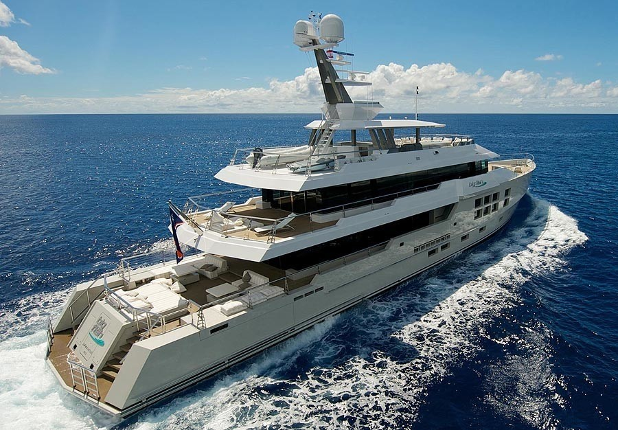 Aft: Yacht BIG FISH's Cruising Pictured