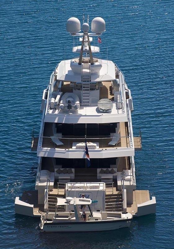 Aft Decks Aboard Yacht BIG FISH