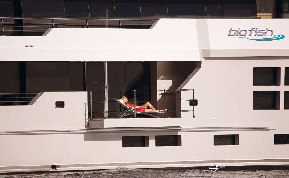 Balcony / Terrace Aboard Yacht BIG FISH