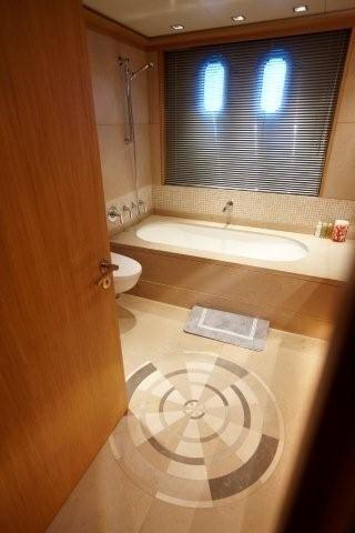 Main Master Bathroom On Board Yacht ALKHOR