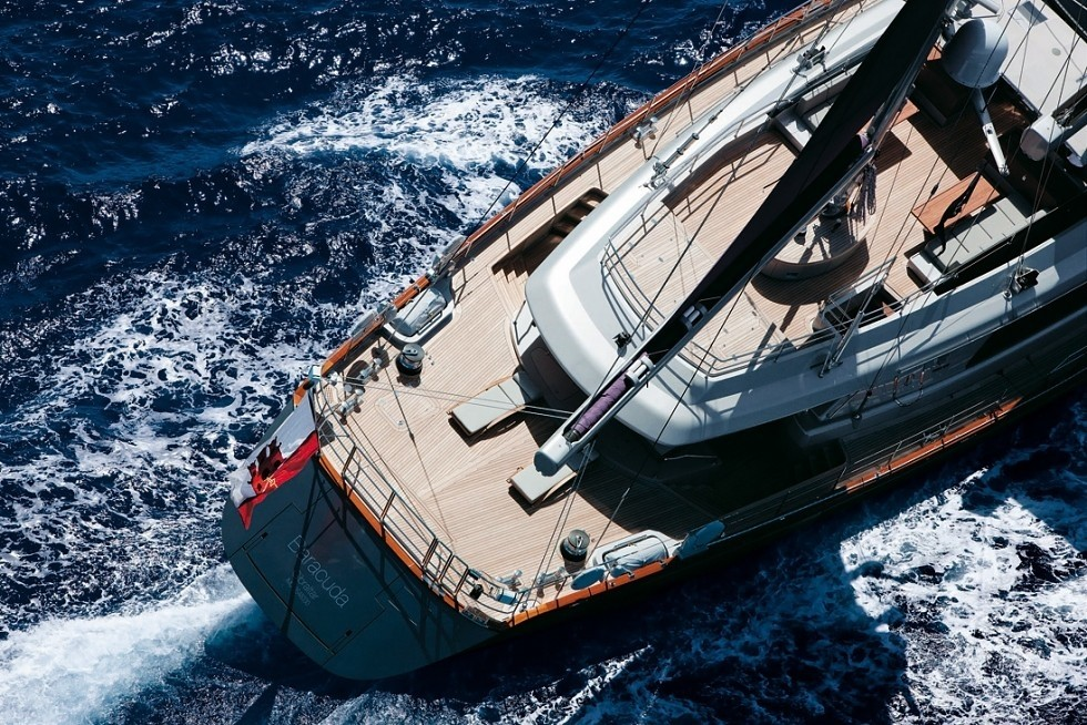 Aft: Yacht BARACUDA VALLETTA's From Above Pictured