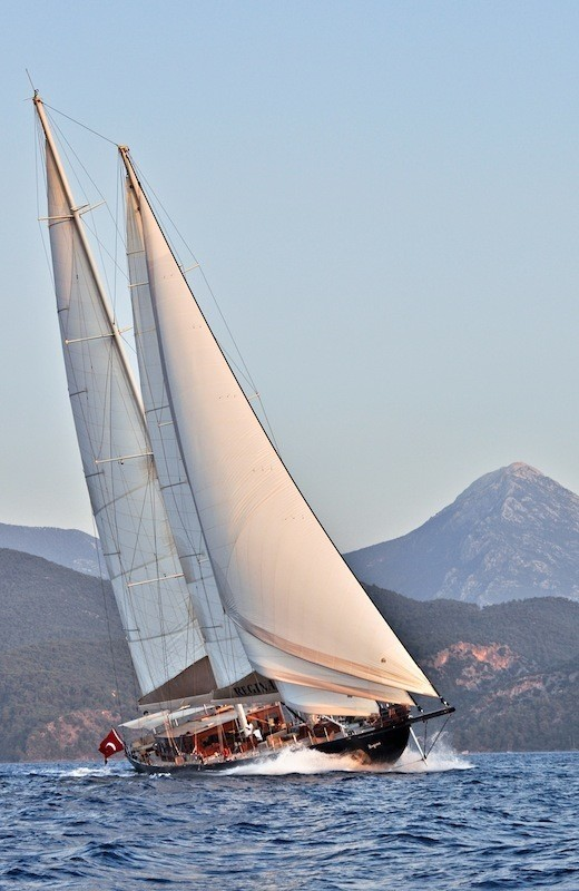 With Full Sailing On Yacht REGINA