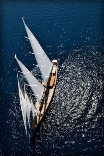 From Above Above Aboard Yacht REGINA