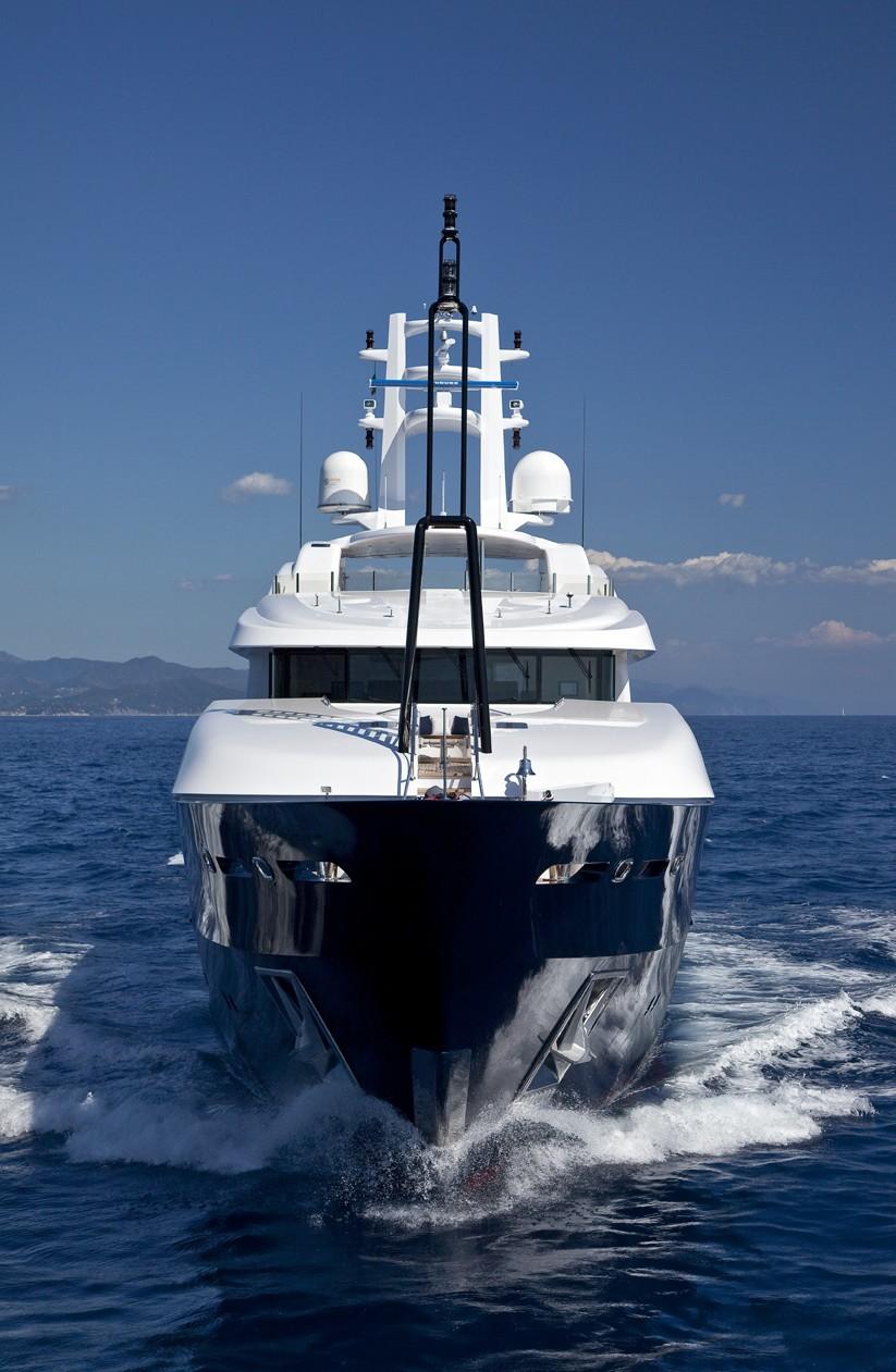 Ship's Bow: Yacht BARAKA's Cruising Captured