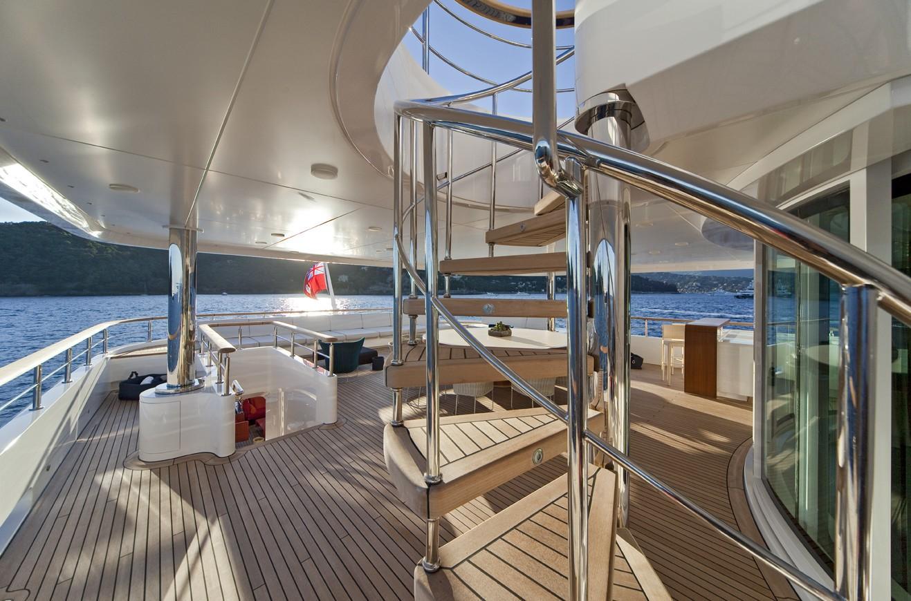 Stairway: Yacht BARAKA's Top Deck Photograph