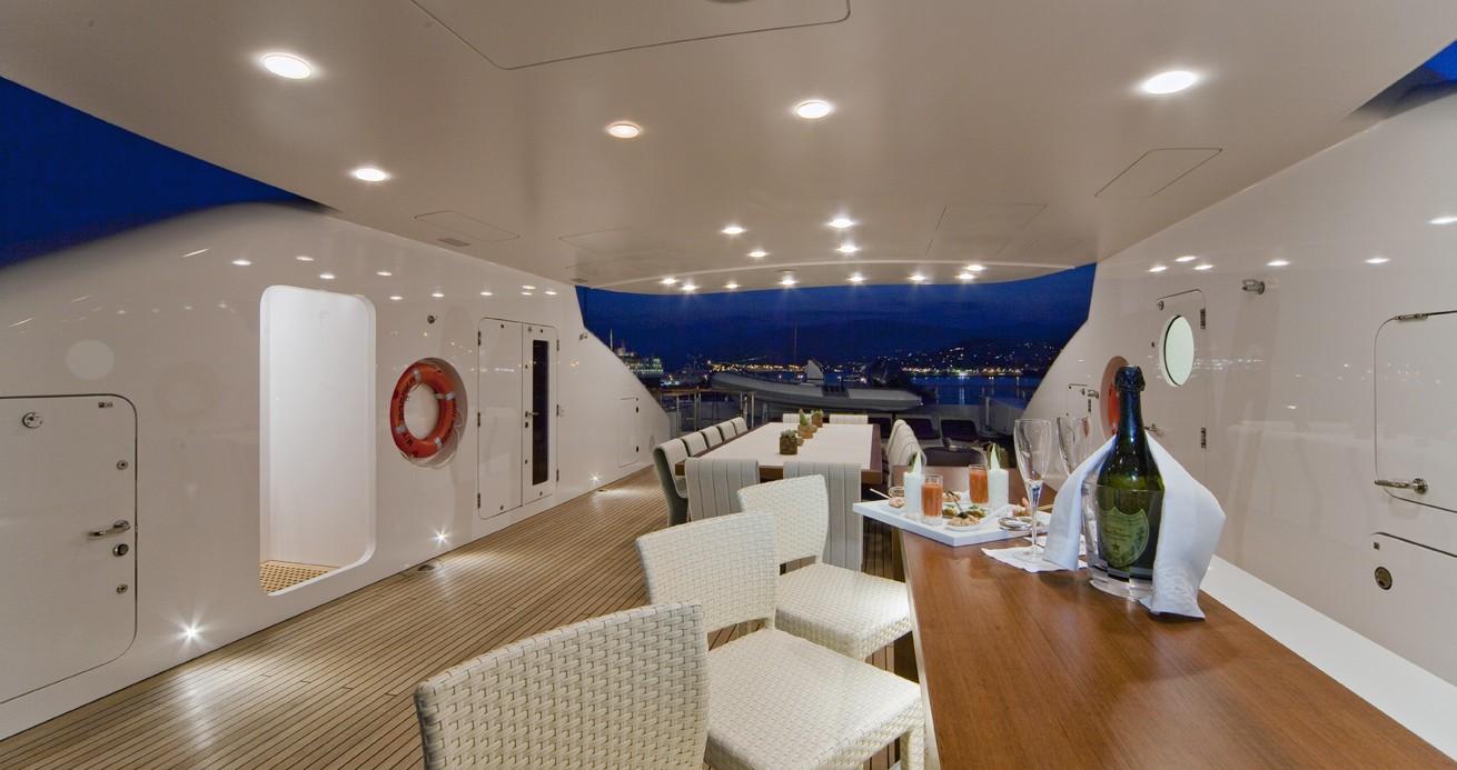 Top Aft Deck On Board Yacht BARAKA