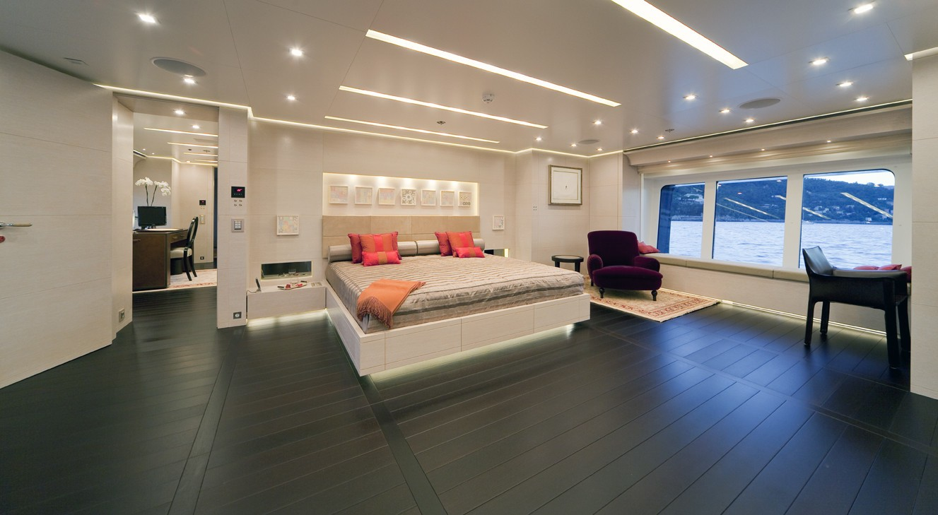 Main Master Cabin On Yacht BARAKA