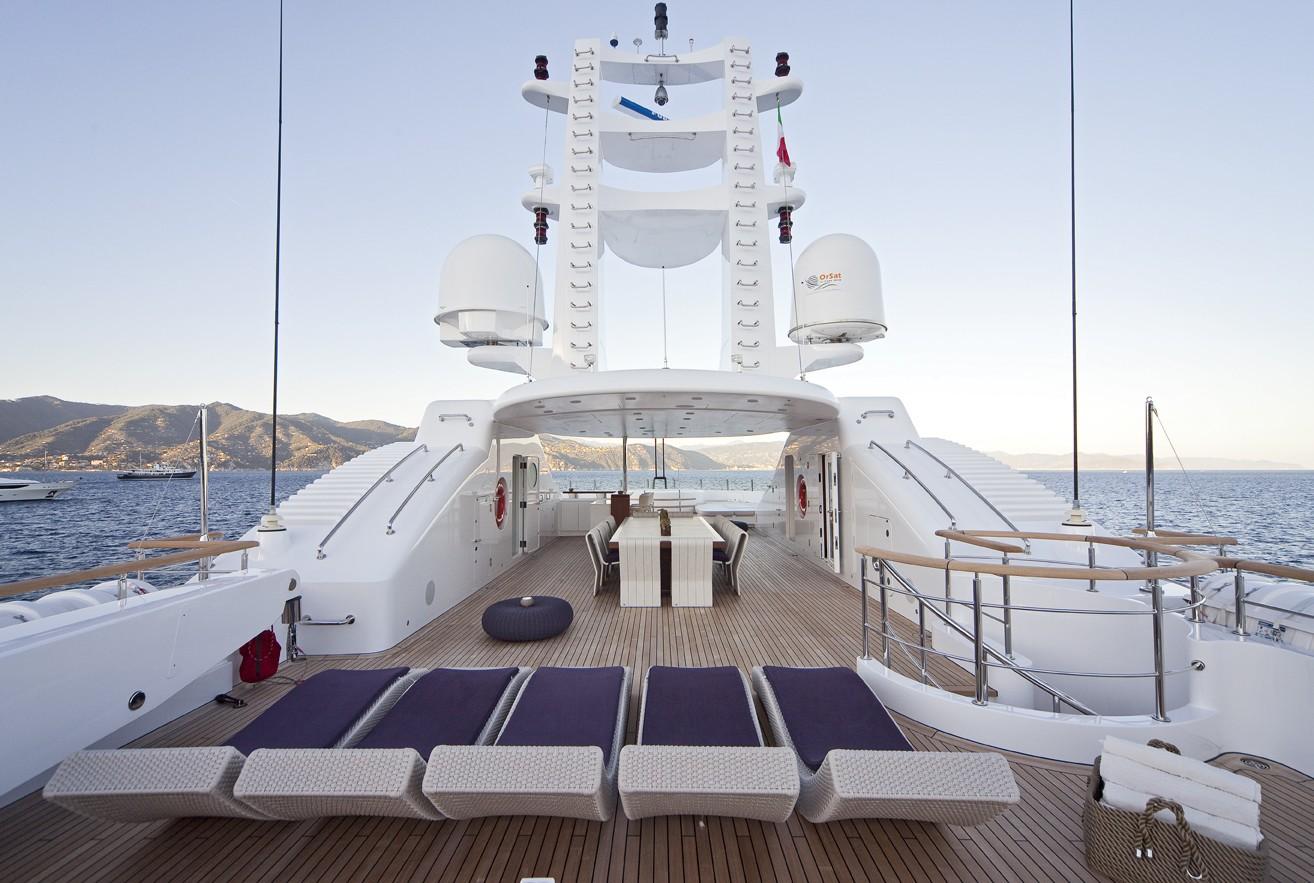 Sun Deck On Yacht BARAKA