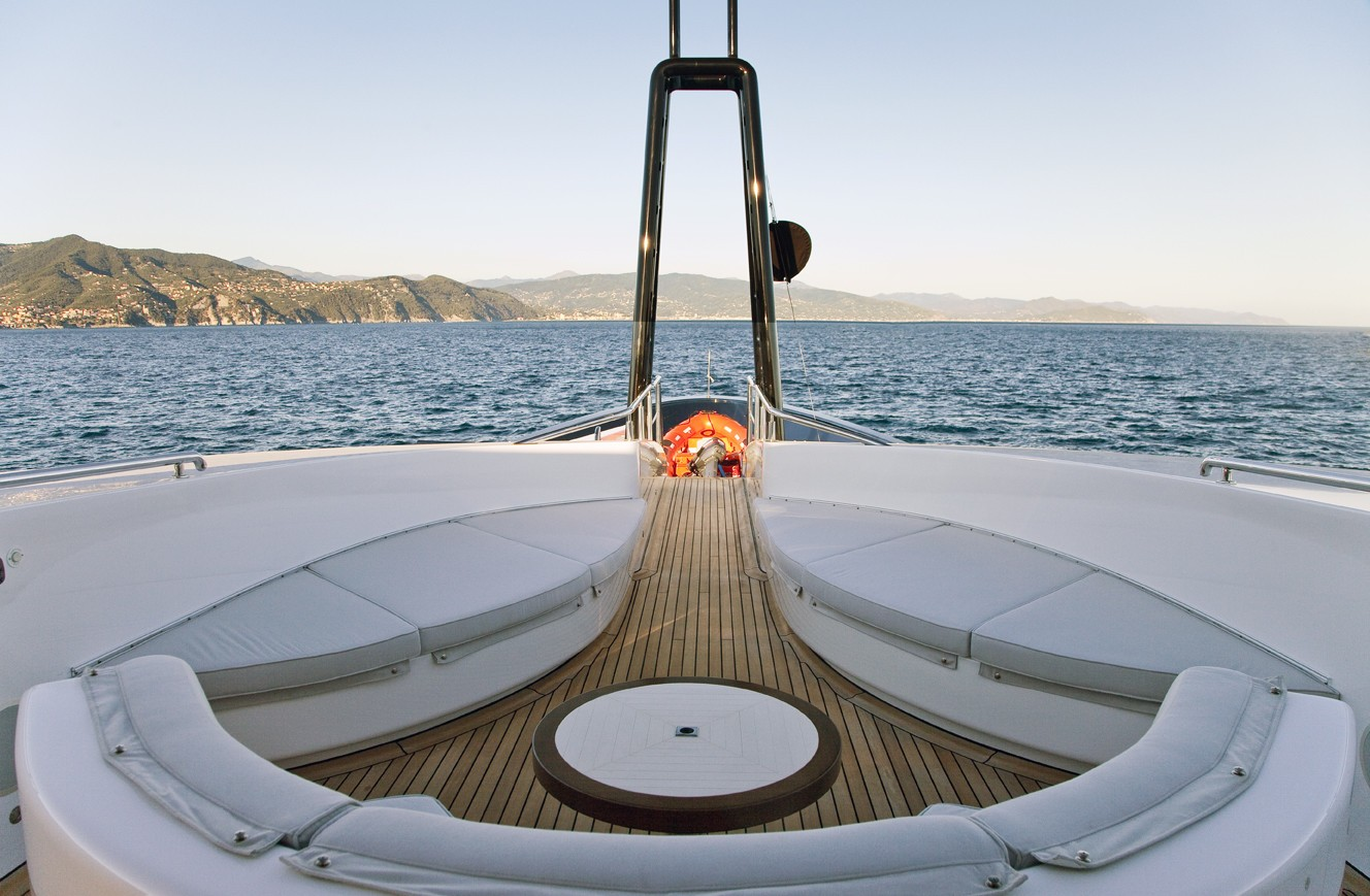 Circular Sitting: Yacht BARAKA's Deck Captured