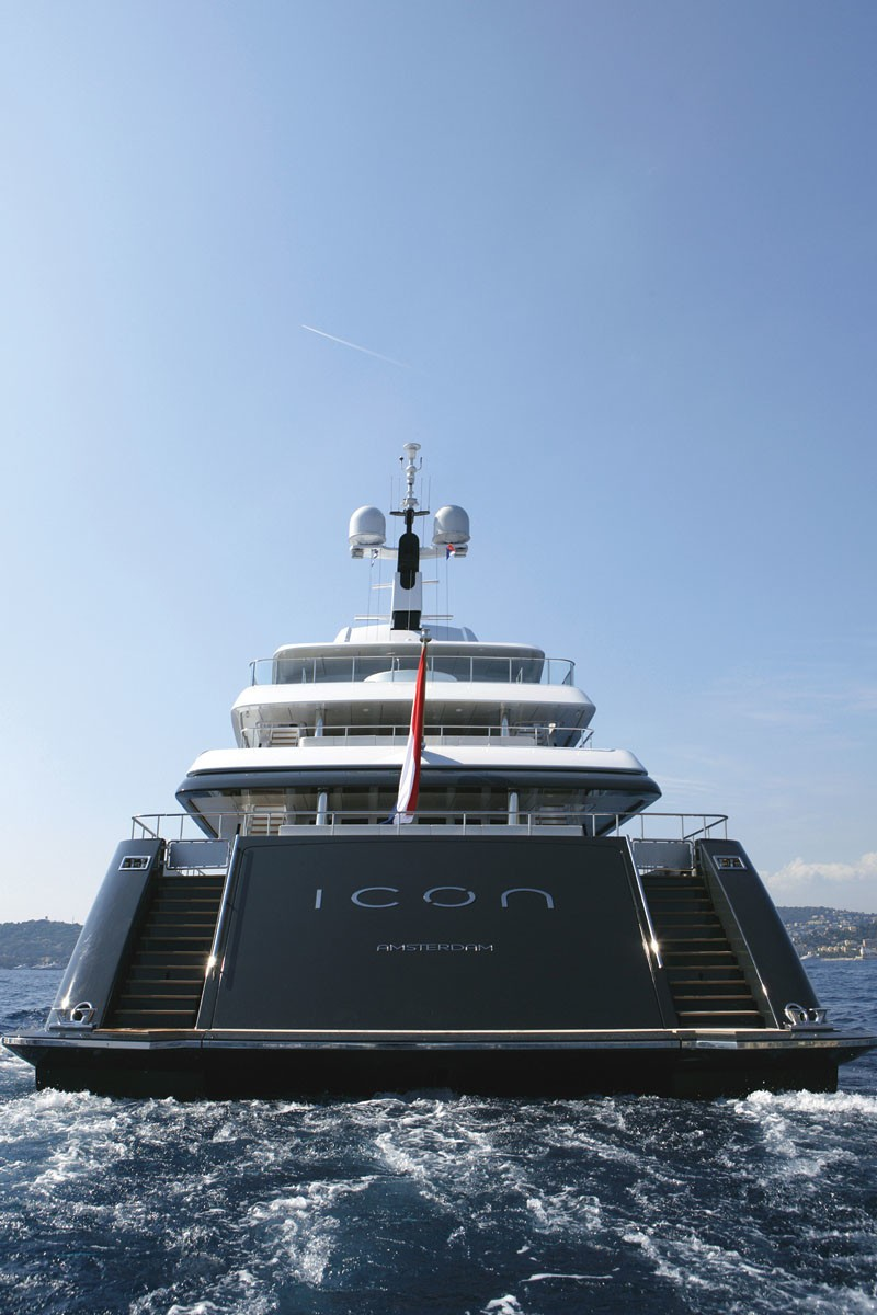 Aft Aspect On Board Yacht ICON