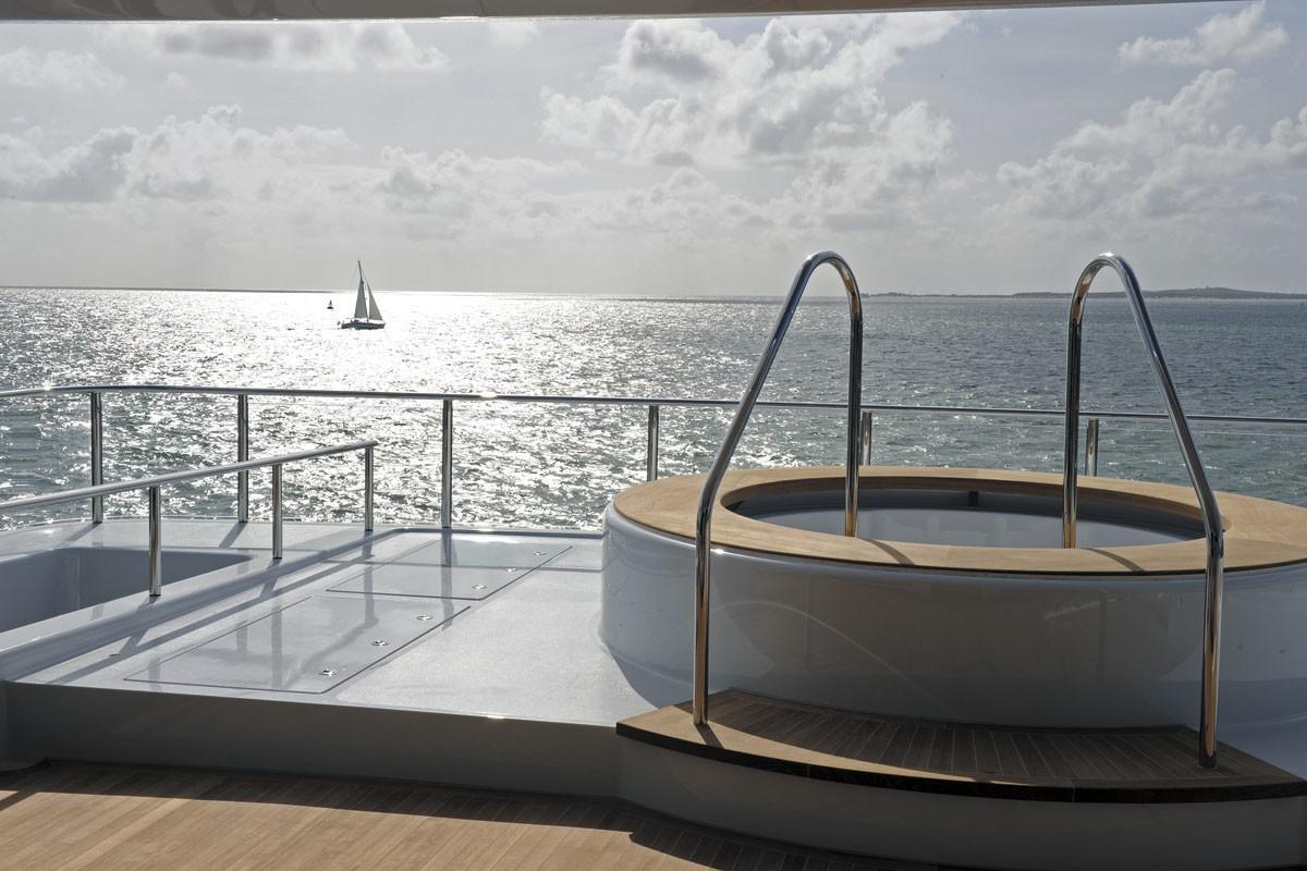 Jacuzzi Pool Aboard Yacht ICON