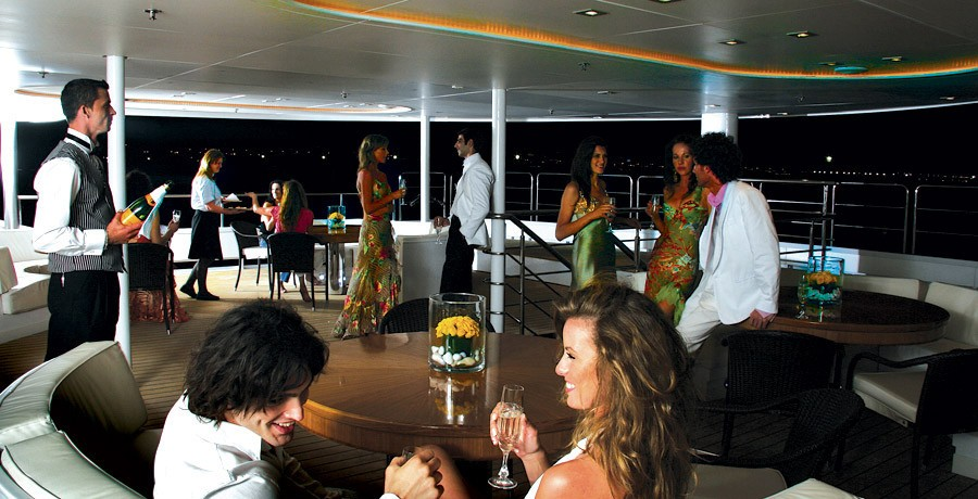 Evening Aboard Yacht ELEGANT 007