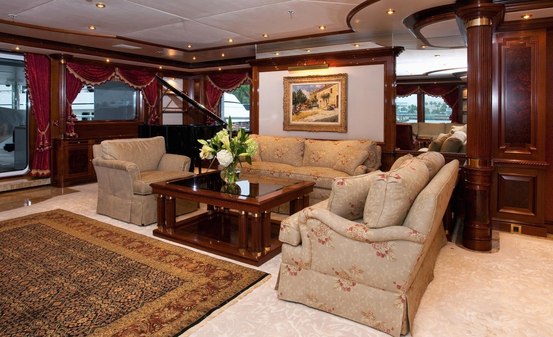 Sitting: Yacht TITANIA's Premier Saloon Photograph