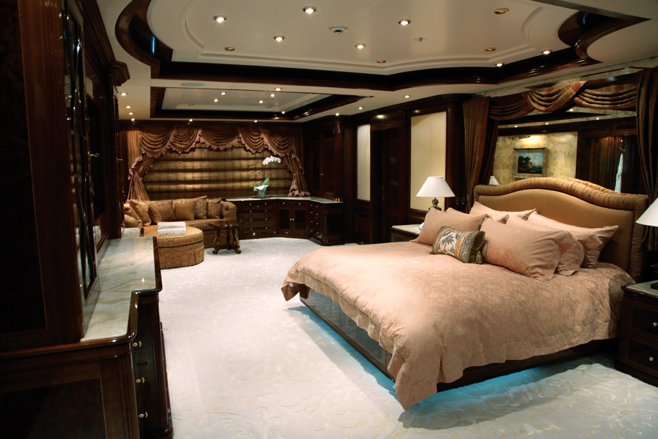 master cabin image gallery luxury yacht browser by 12212 | 5b72m yacht titania 5d 5968 247