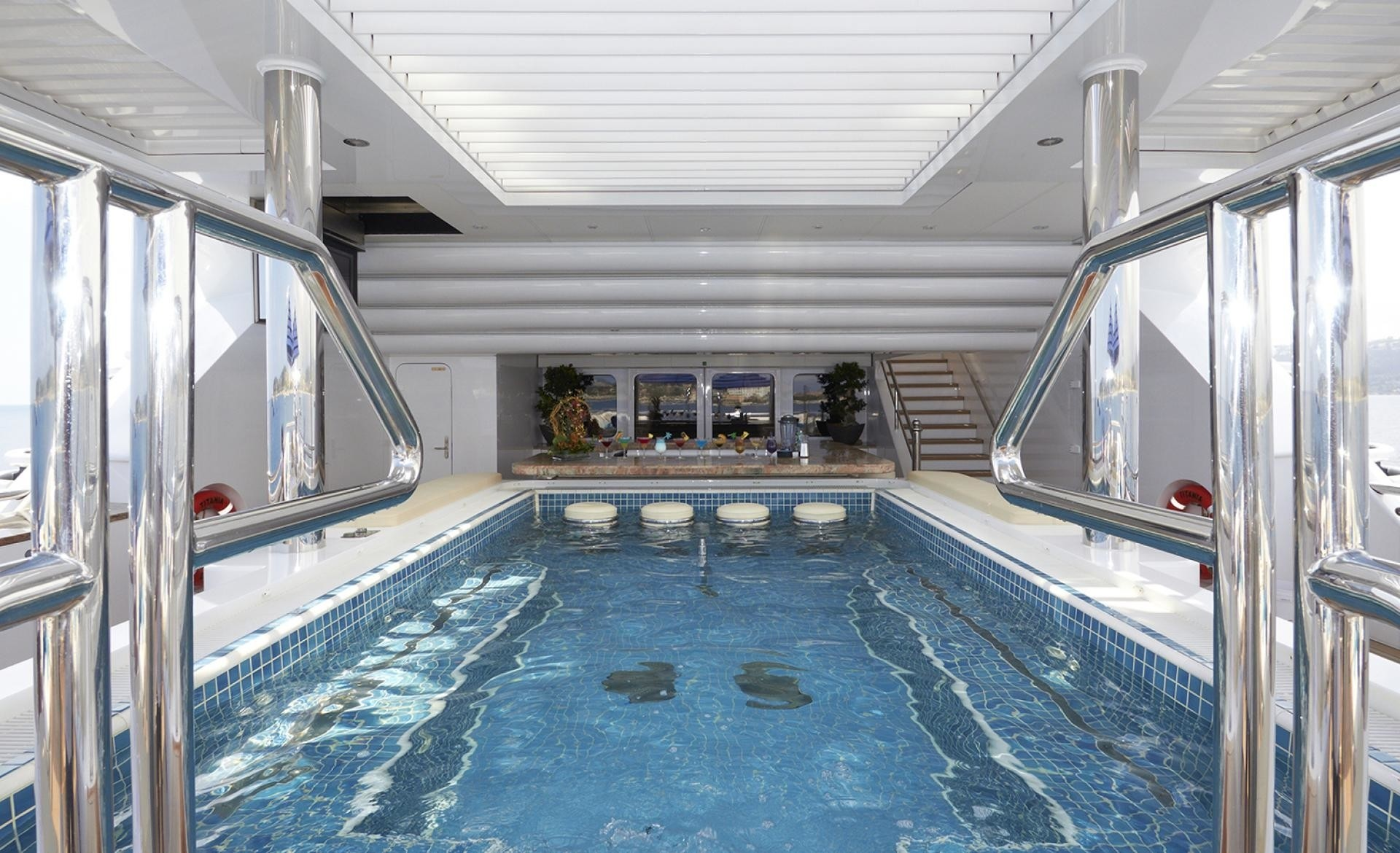 Swimming Pool Aboard Yacht TITANIA